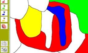 لون الخارطة